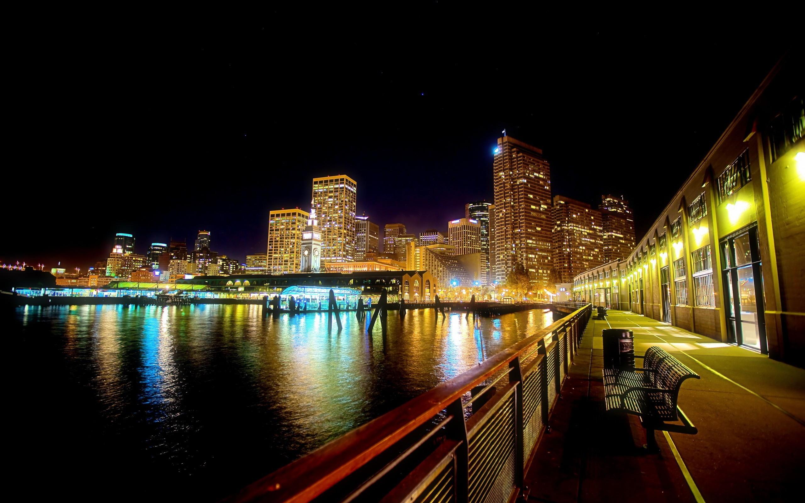 Edificios de noches - 2560x1600