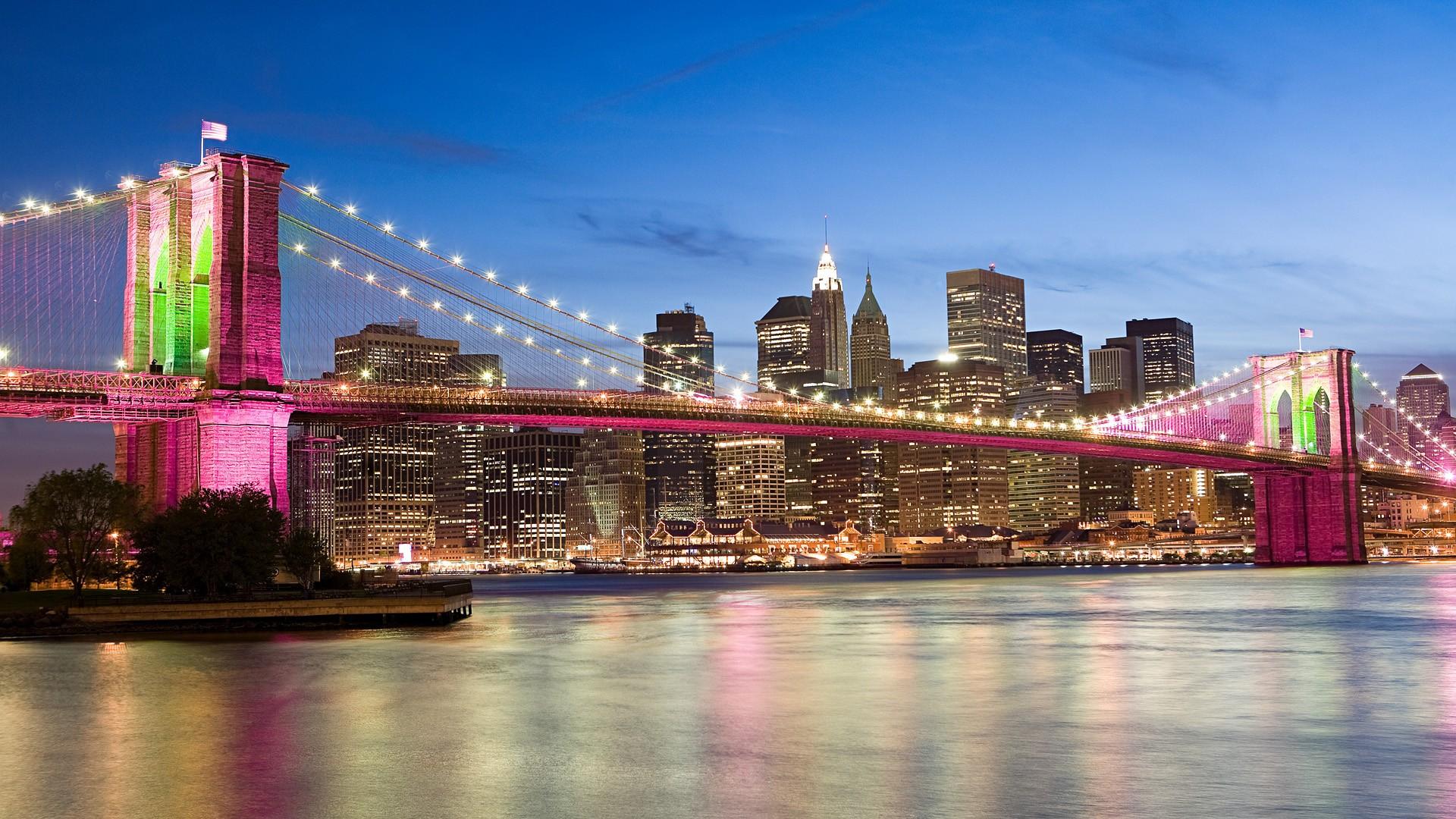El puente rosado de Brooklyn Bridge - 1920x1080