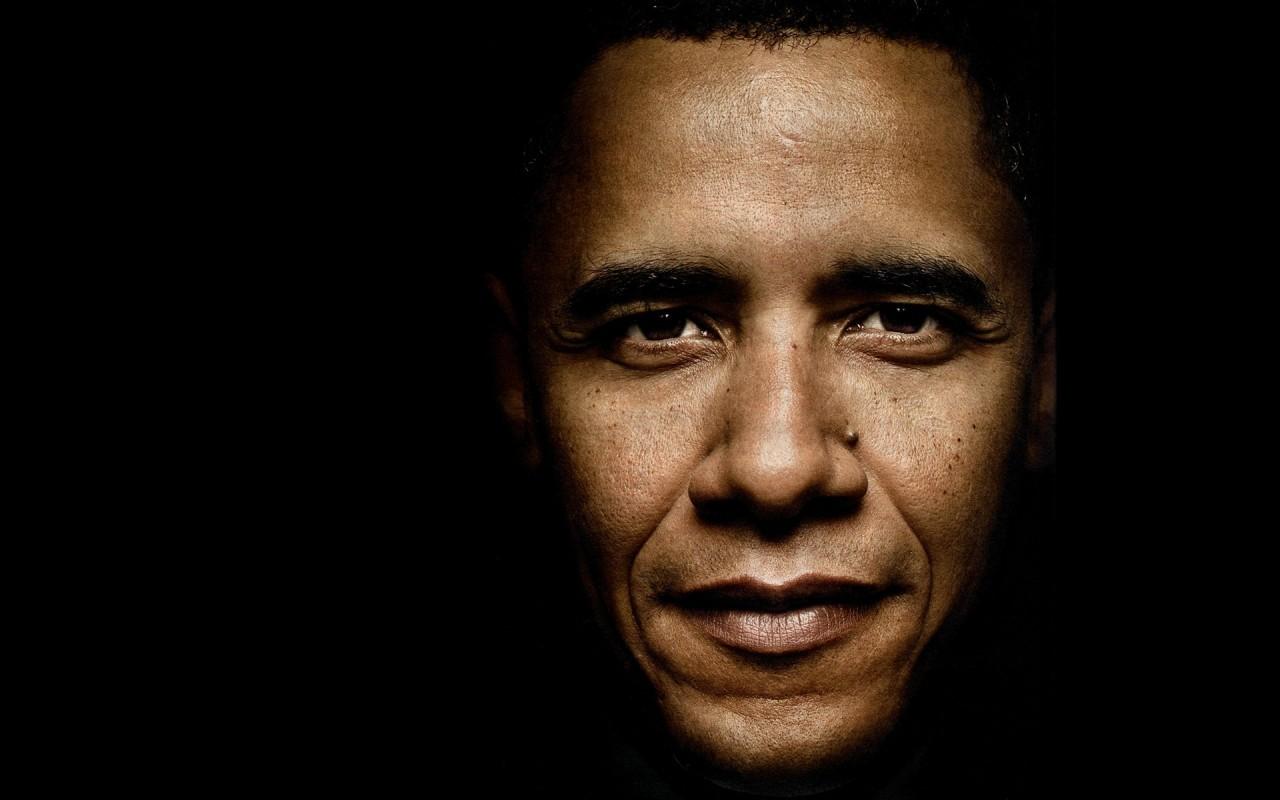 El rostro de Barack Obama - 1280x800