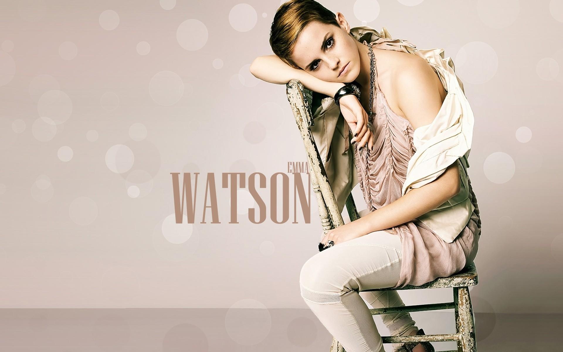 Emma Watson look cabello corto - 1920x1200