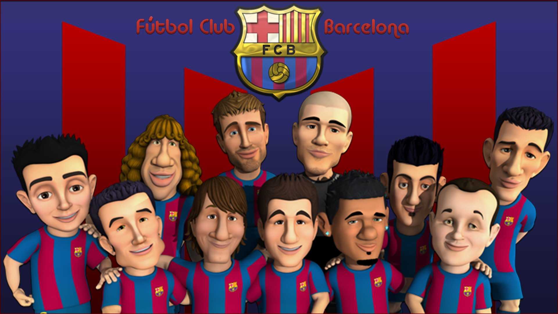 Caricaturas del Barcelona - 1920x1080