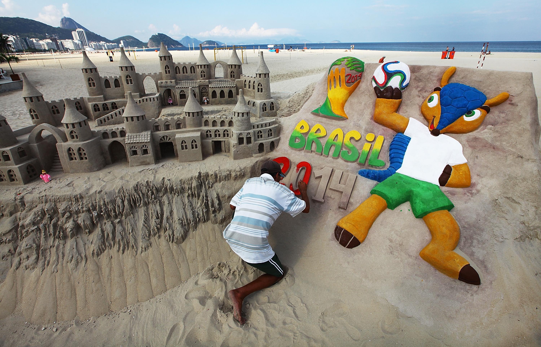 Esculturas de arena Brasil 2014 - 3000x1922