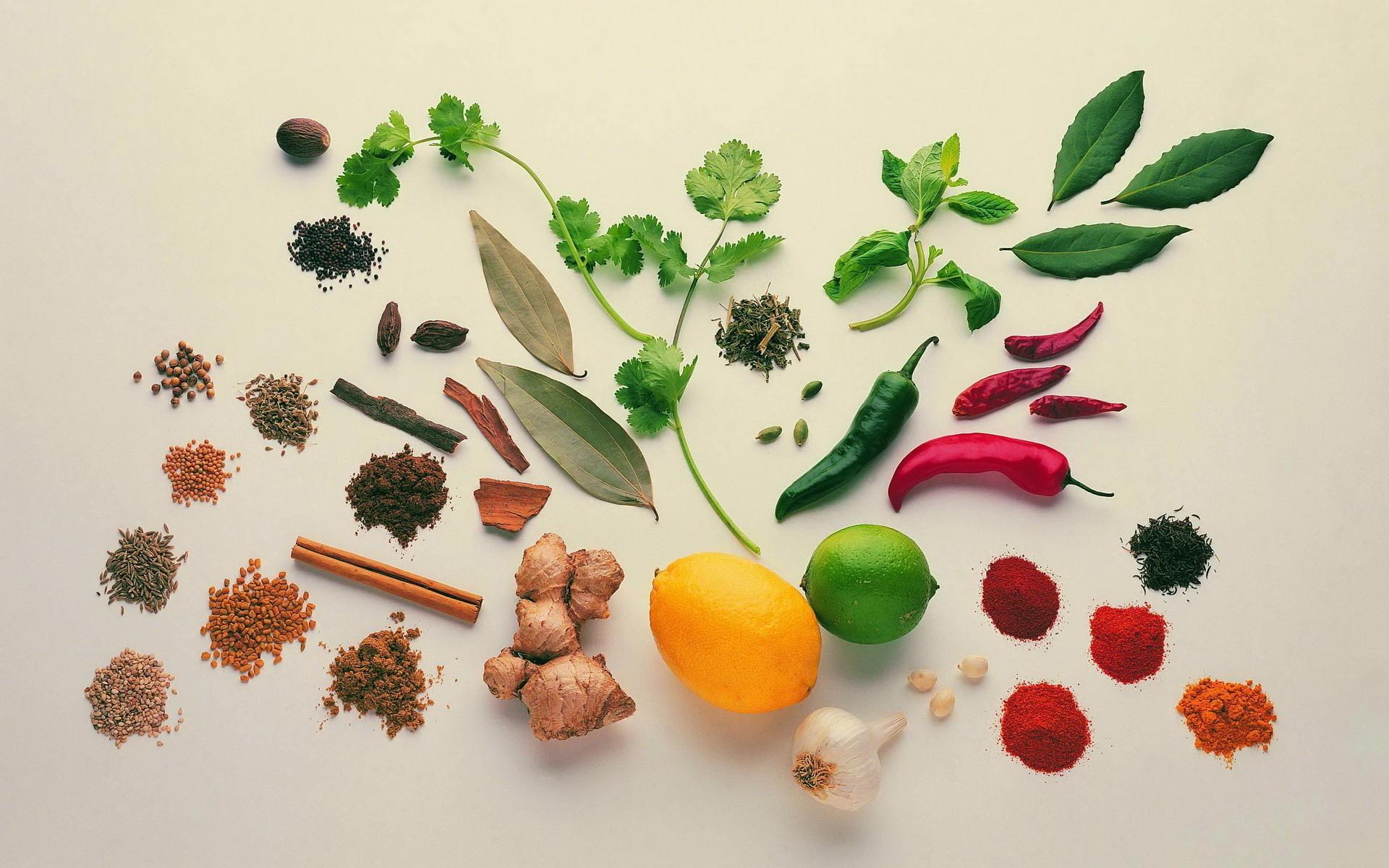 Especias y verduras - 1920x1200