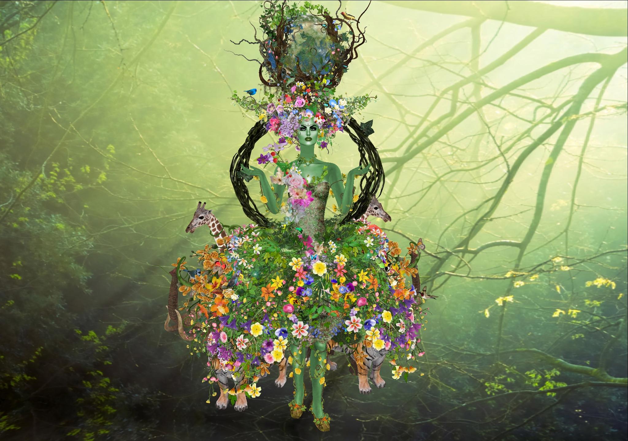 Flores y la madre abstracta - 2048x1437