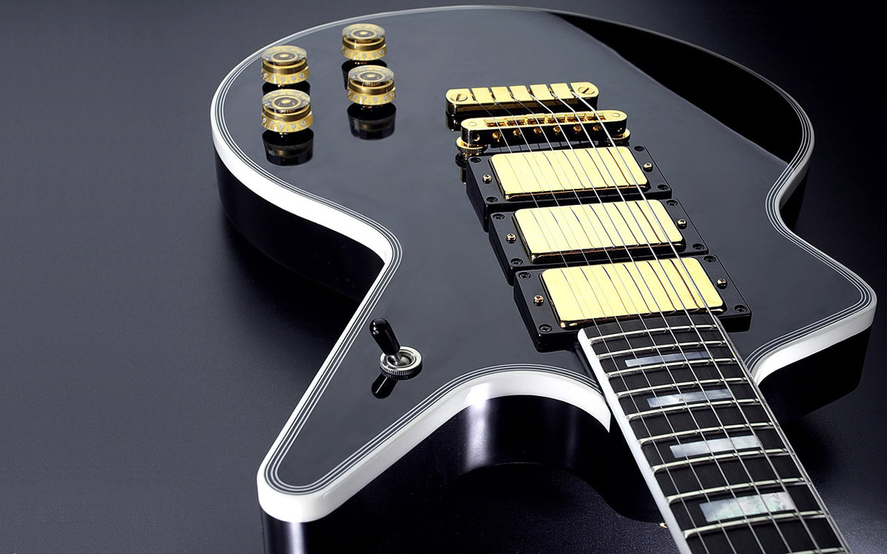 Guitarra modelo Les Paul - 1280x800