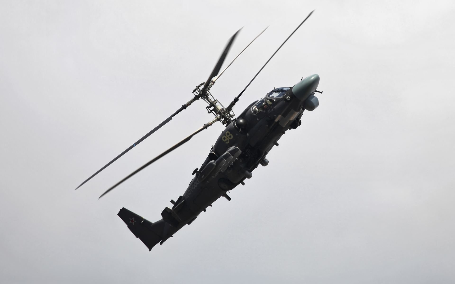 Helicóptero de doble hélice - 1920x1200