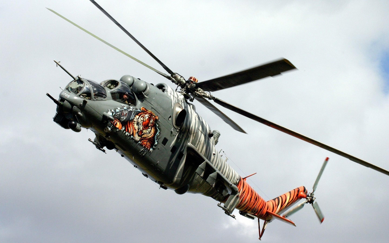 Helicóptero y tigre - 2880x1800