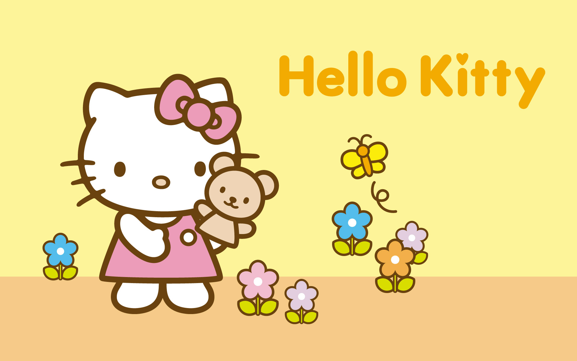Hello Kitty amarillo - 1920x1200