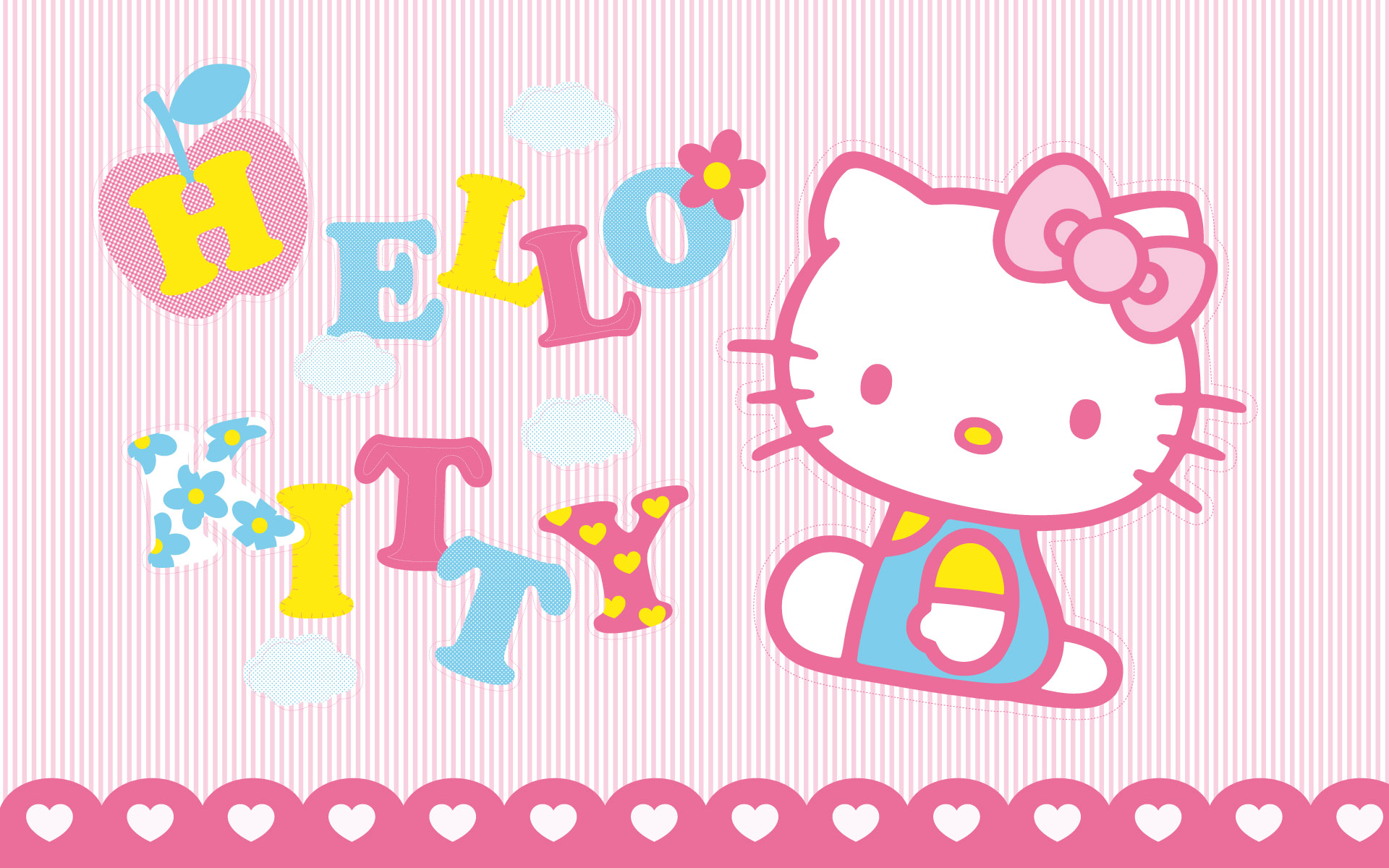Hello Kitty color rosado - 1920x1200