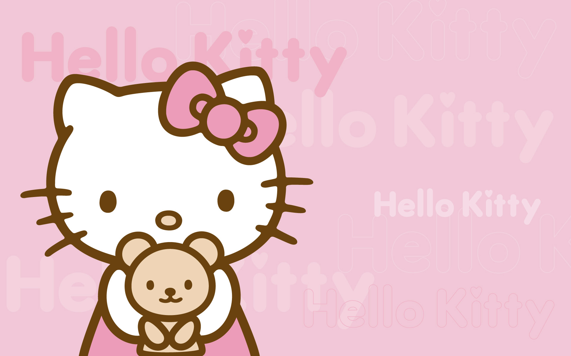 Hello Kitty fondo rosado - 1920x1200