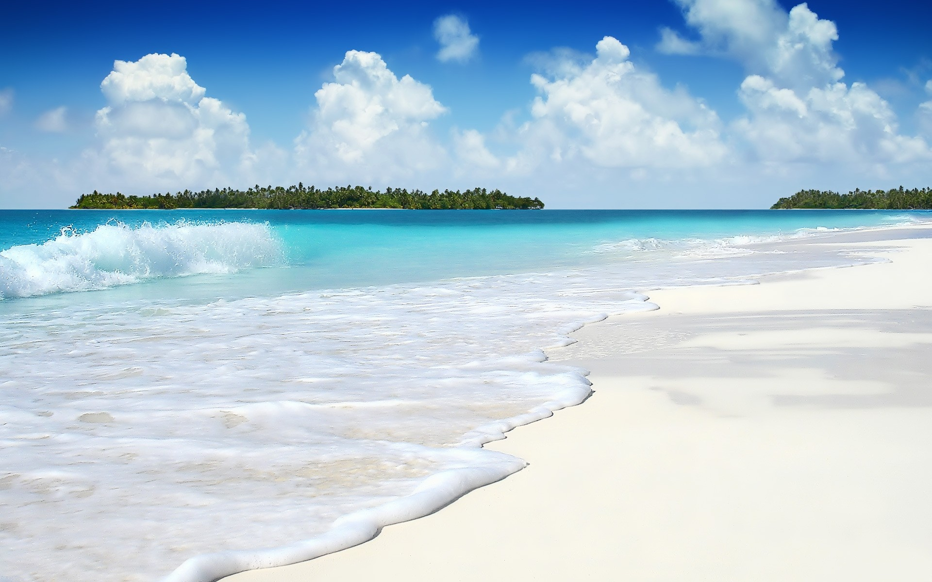 Hermosa playa , 1920x1200 100 bellos paisajes wallpapers HD