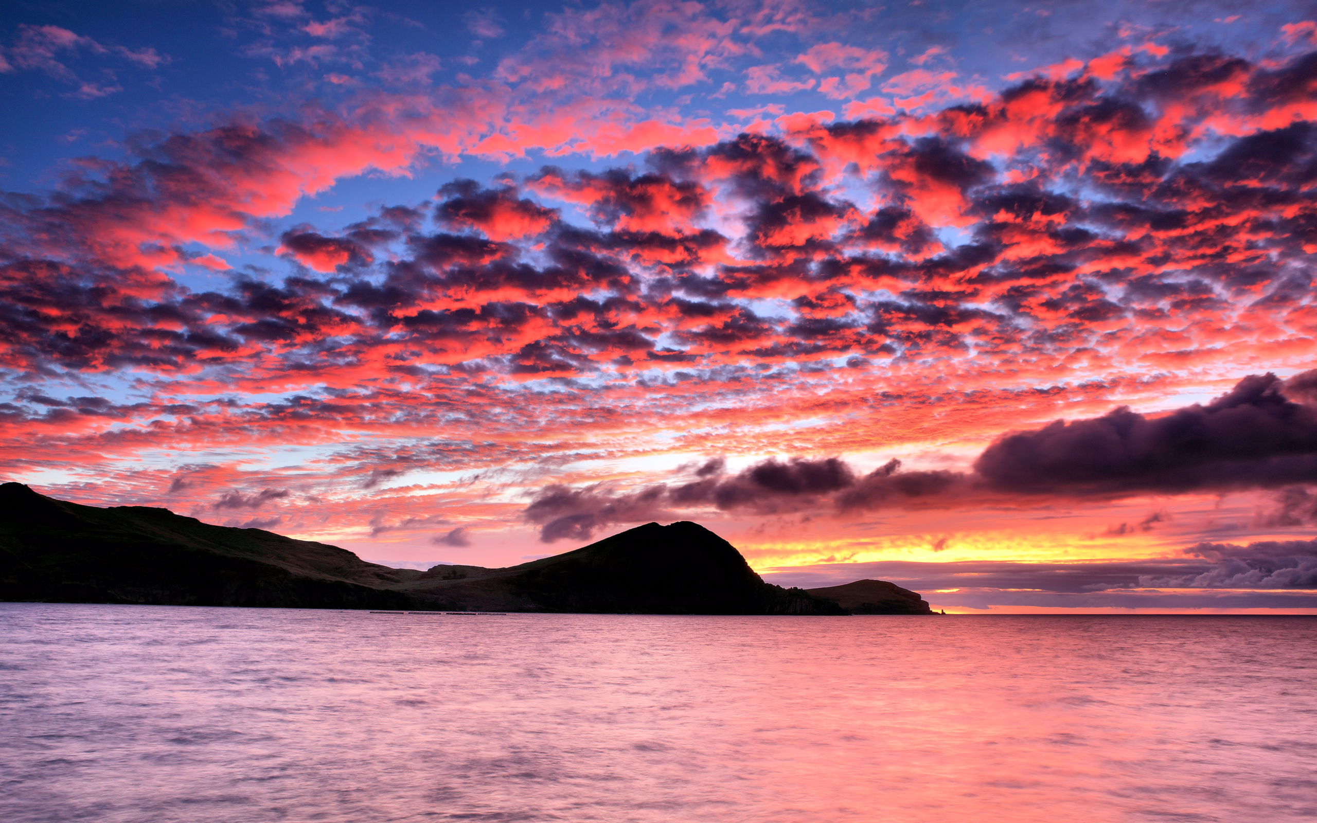 Hermoso cielo en puesta de sol - 2560x1600
