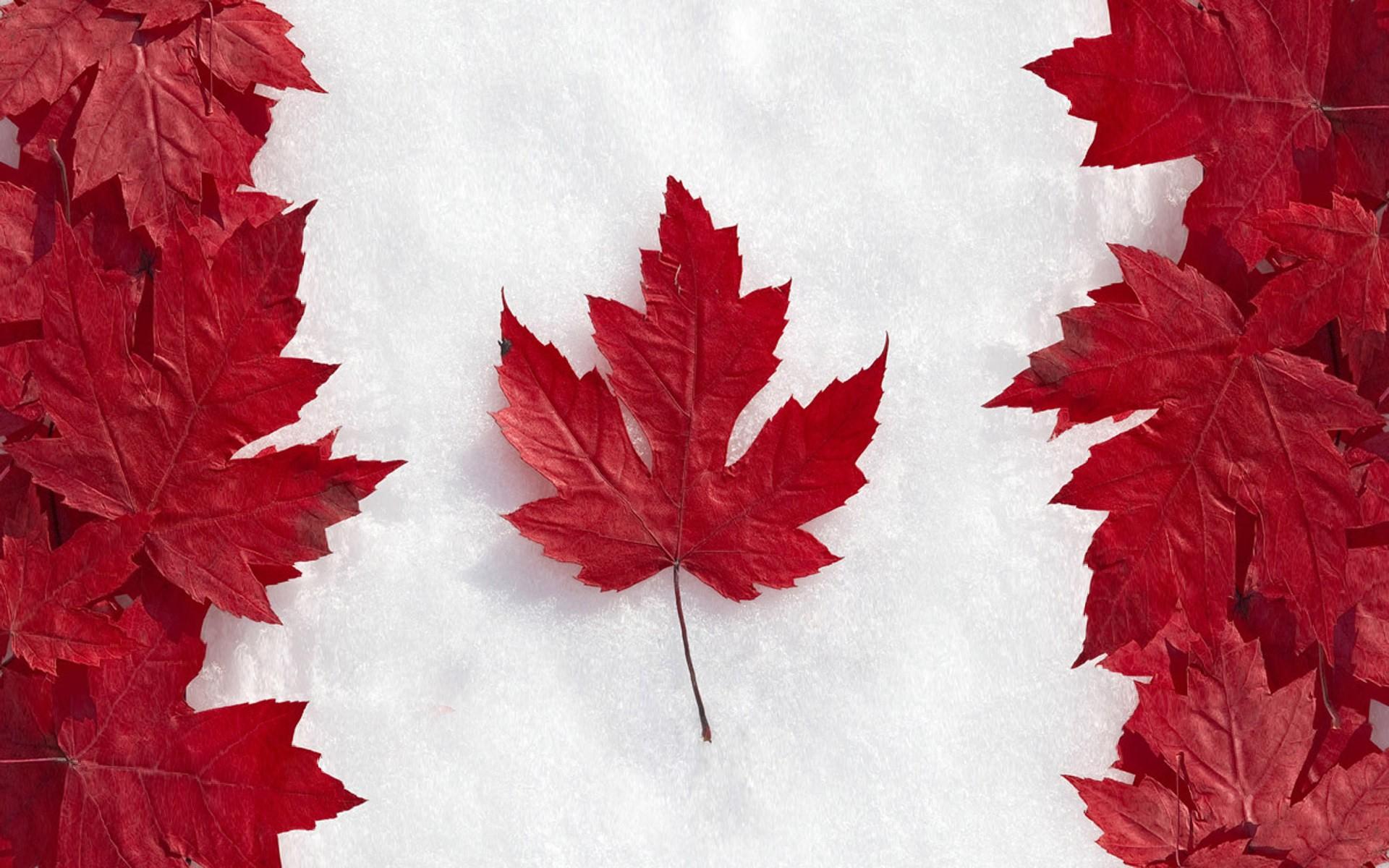 La bandera de Canadá - 1920x1200