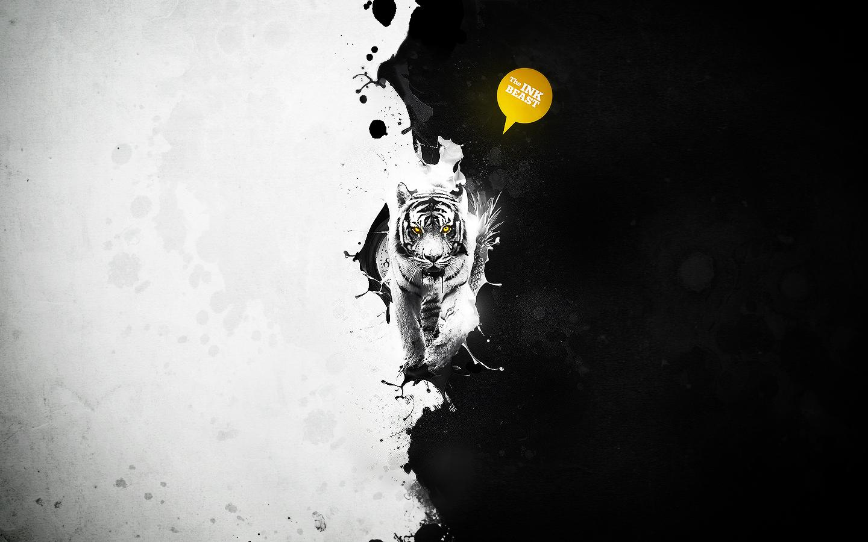 La bestia y arte digital - 1440x900