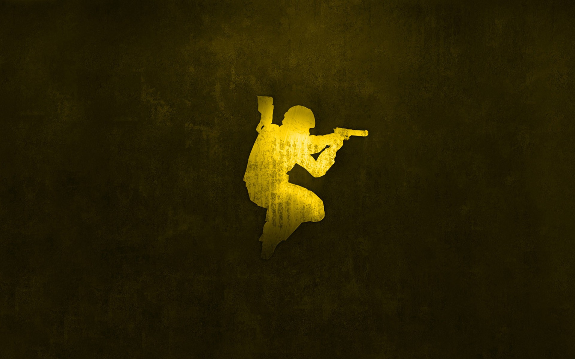 La silueta de un soldado - 1920x1200