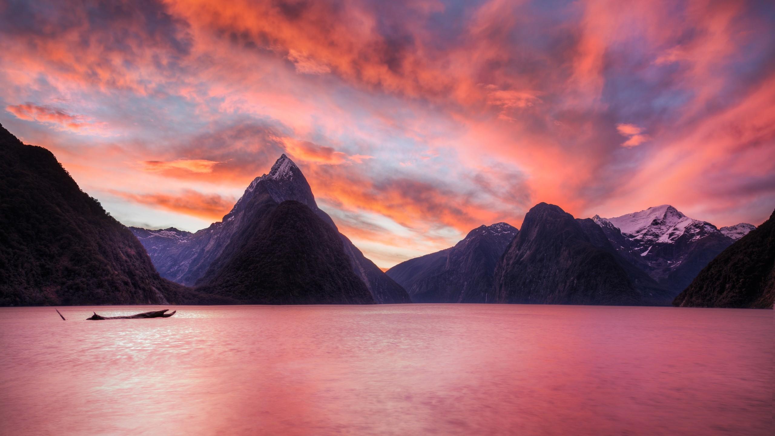 Lago de Nueva Zelanda - 2560x1440