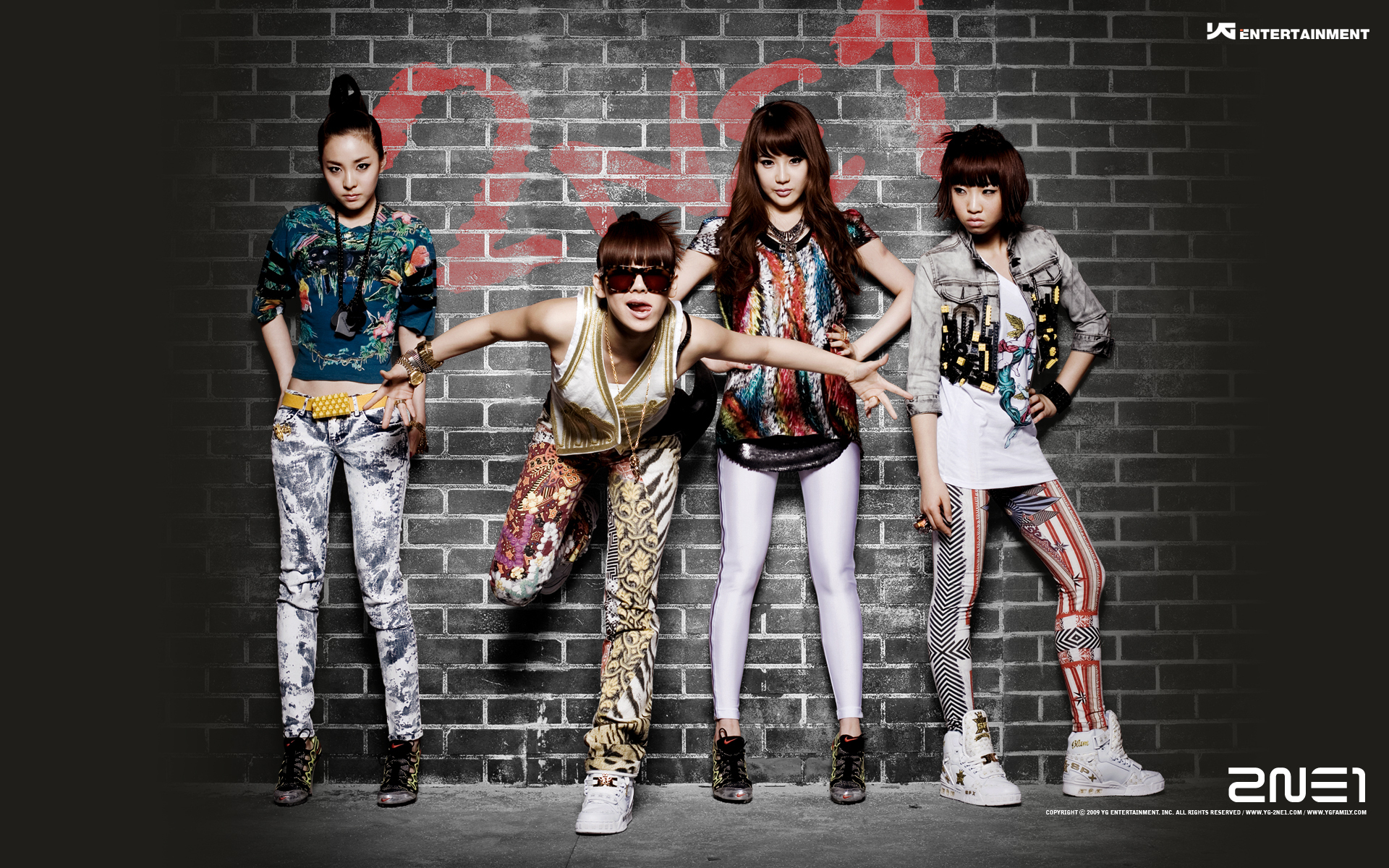 Las chicas de 2NE1 - 1920x1200