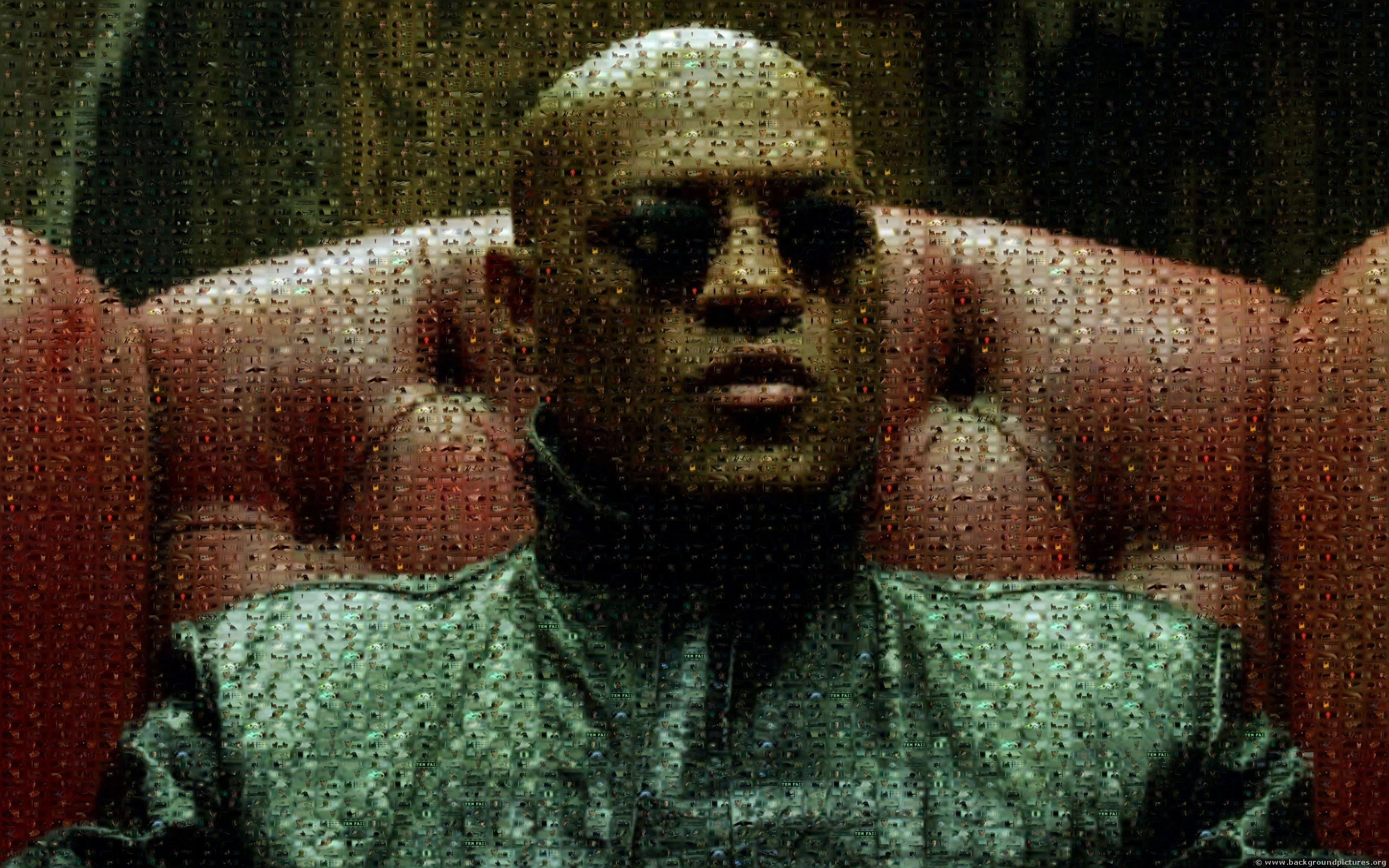Laurence Fishburne Matrix Morpheus - 2560x1600