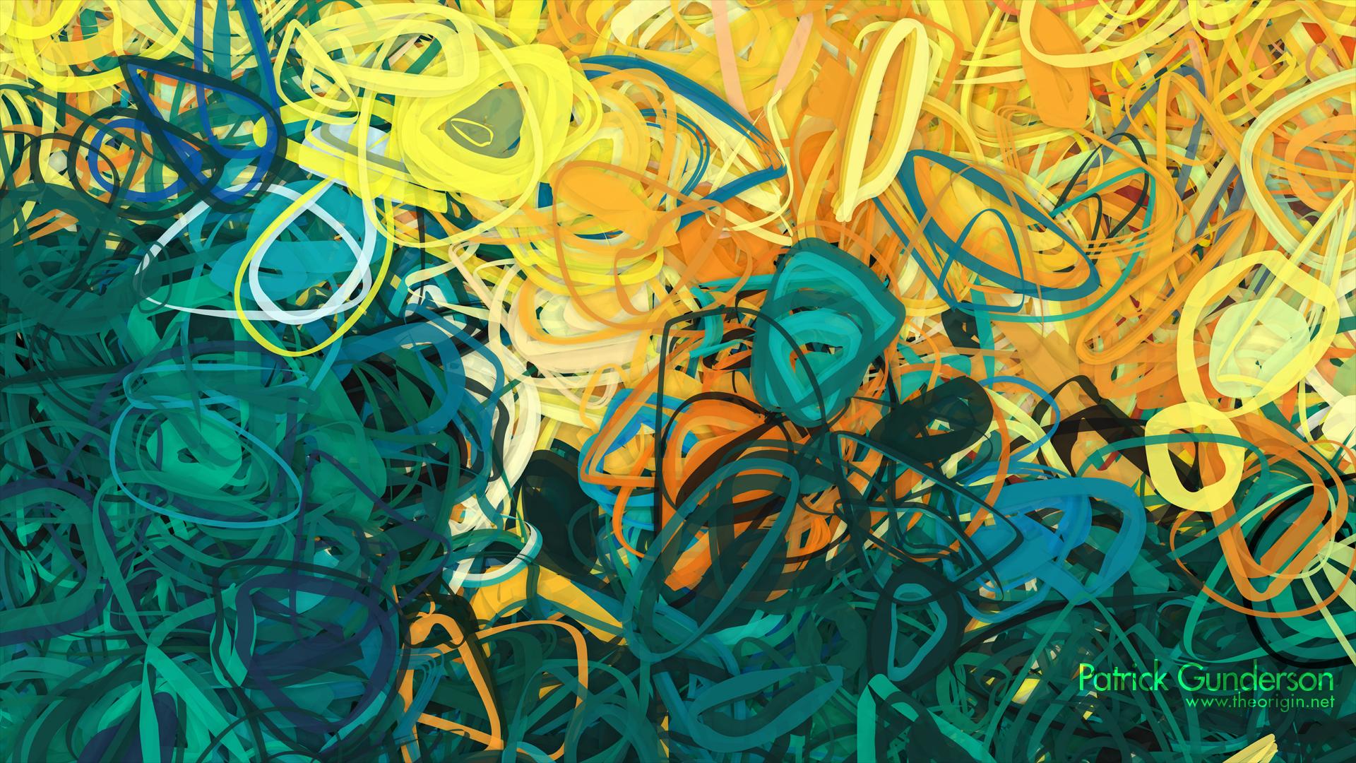 Lineas circulares abstracto - 1920x1080
