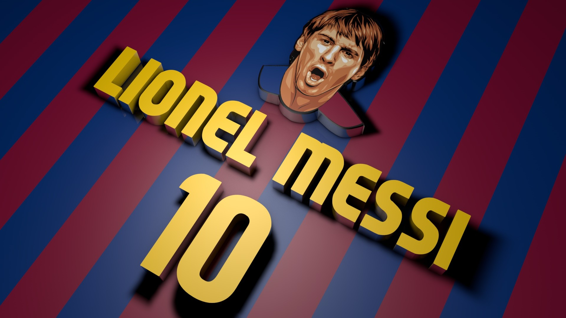 Lionel Messi 3D - 1920x1080