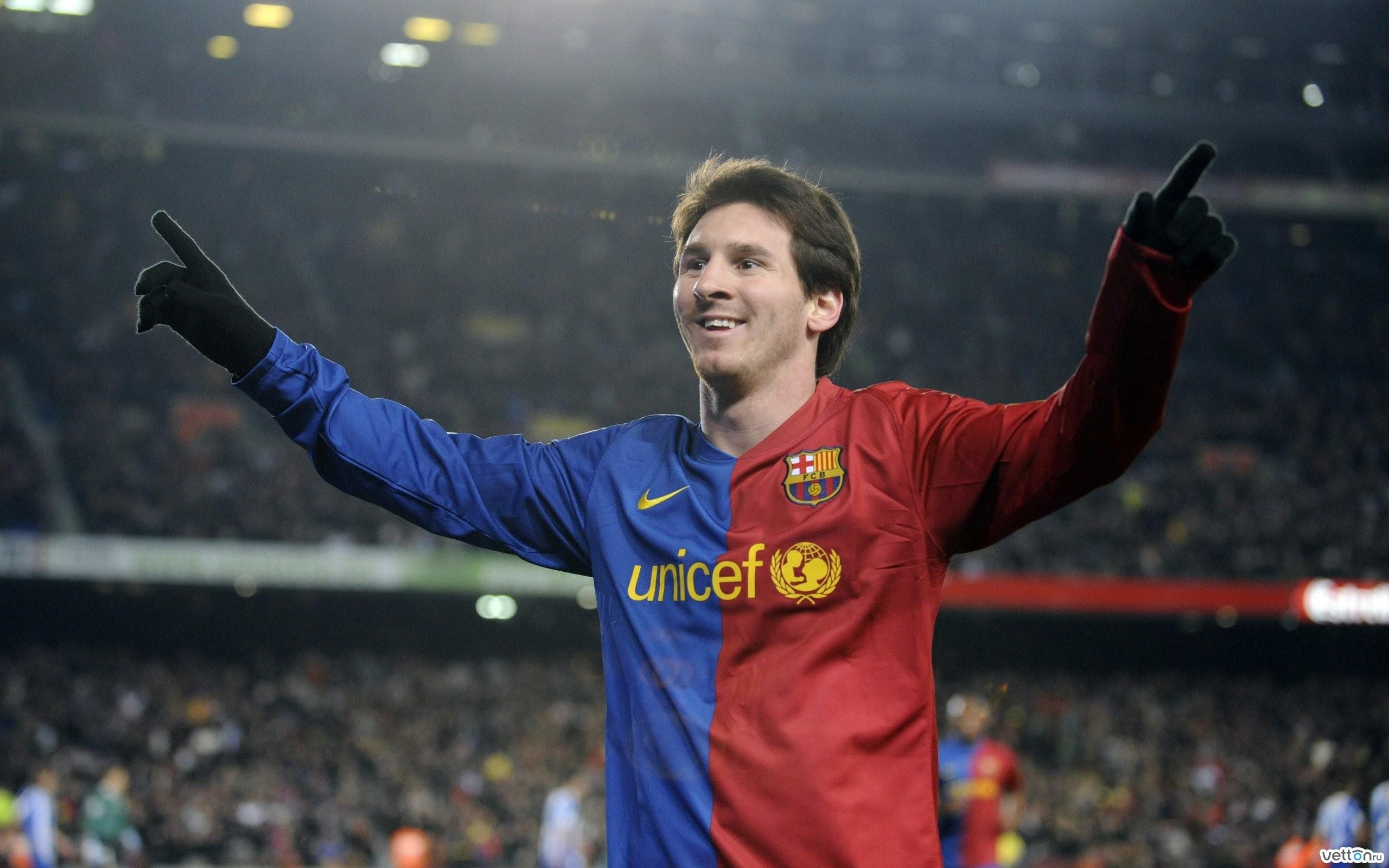 Lionel Messi en el Barcelona - 2560x1600
