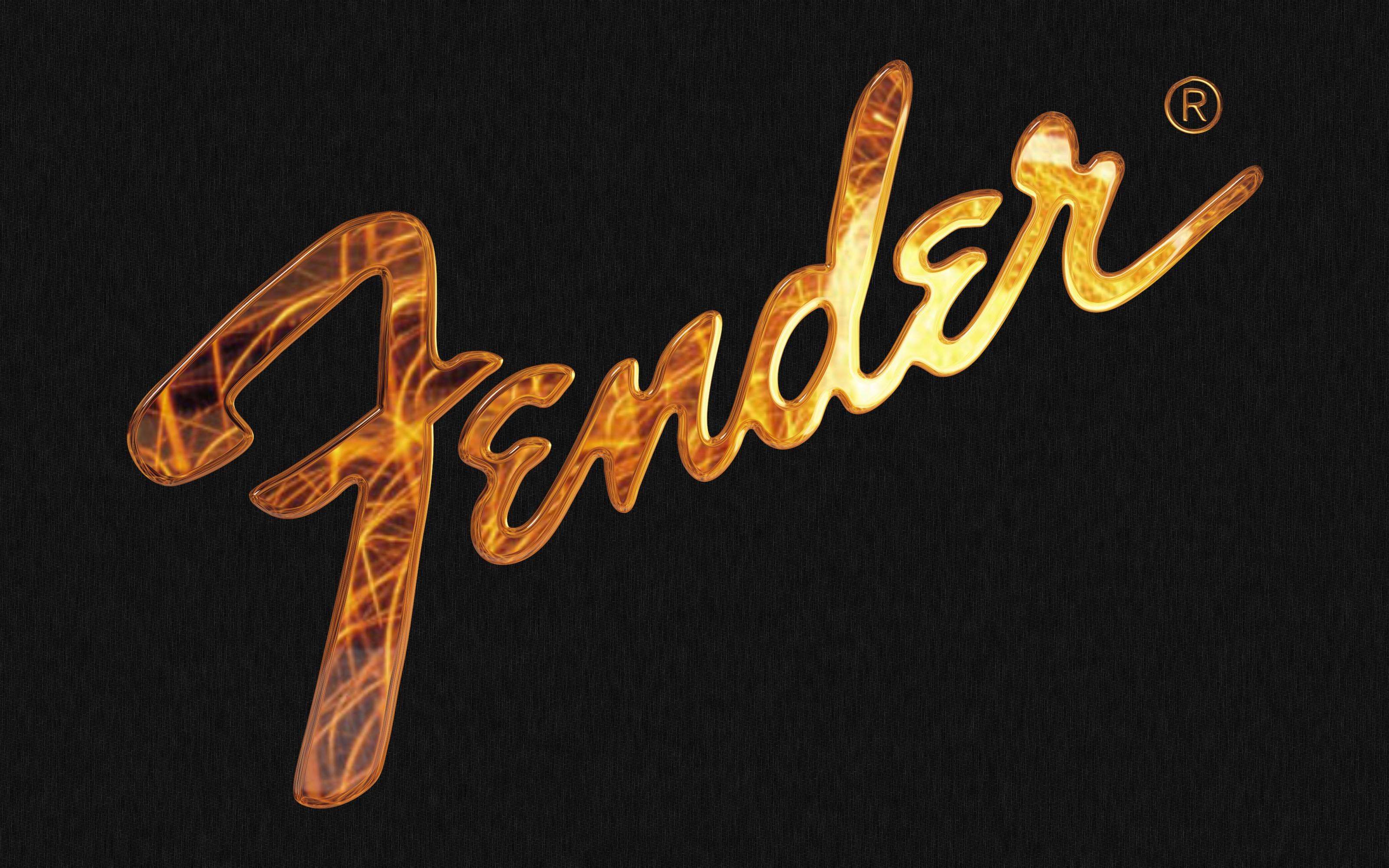 Logo de Fender en 3D - 3200x2000