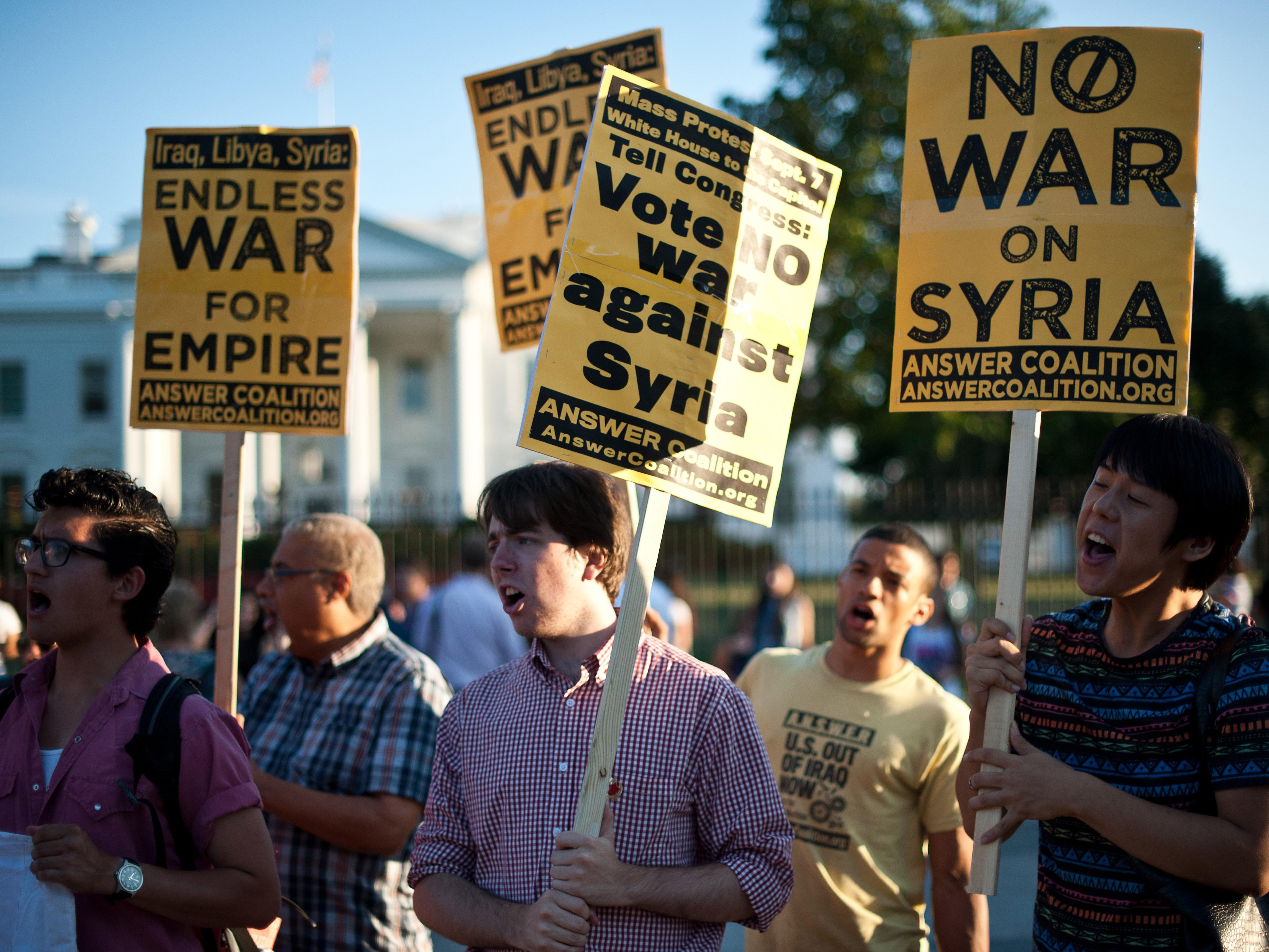 No a la guerra con Siria - 5450x4088