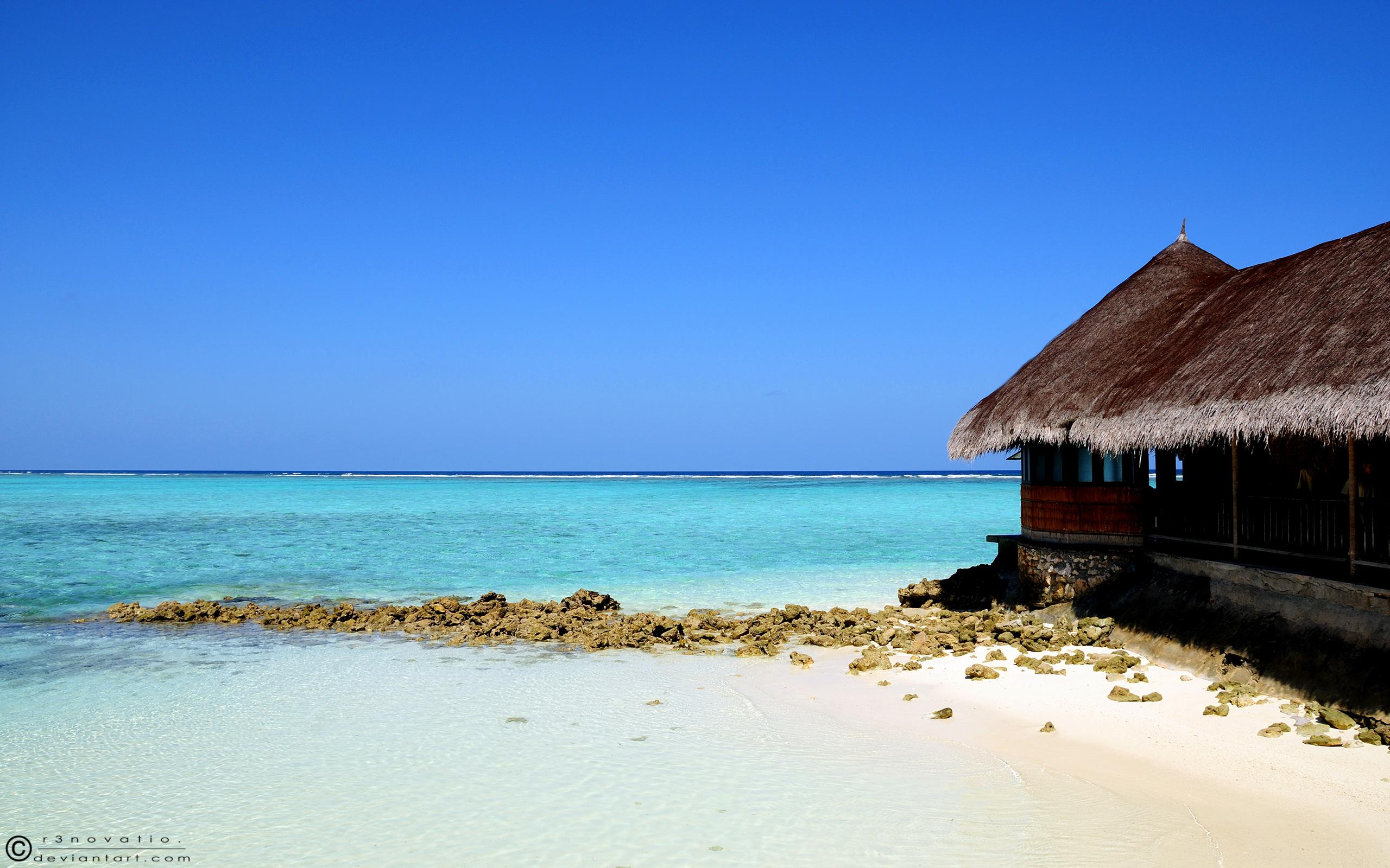 Playas de aguas celestes - 2560x1600