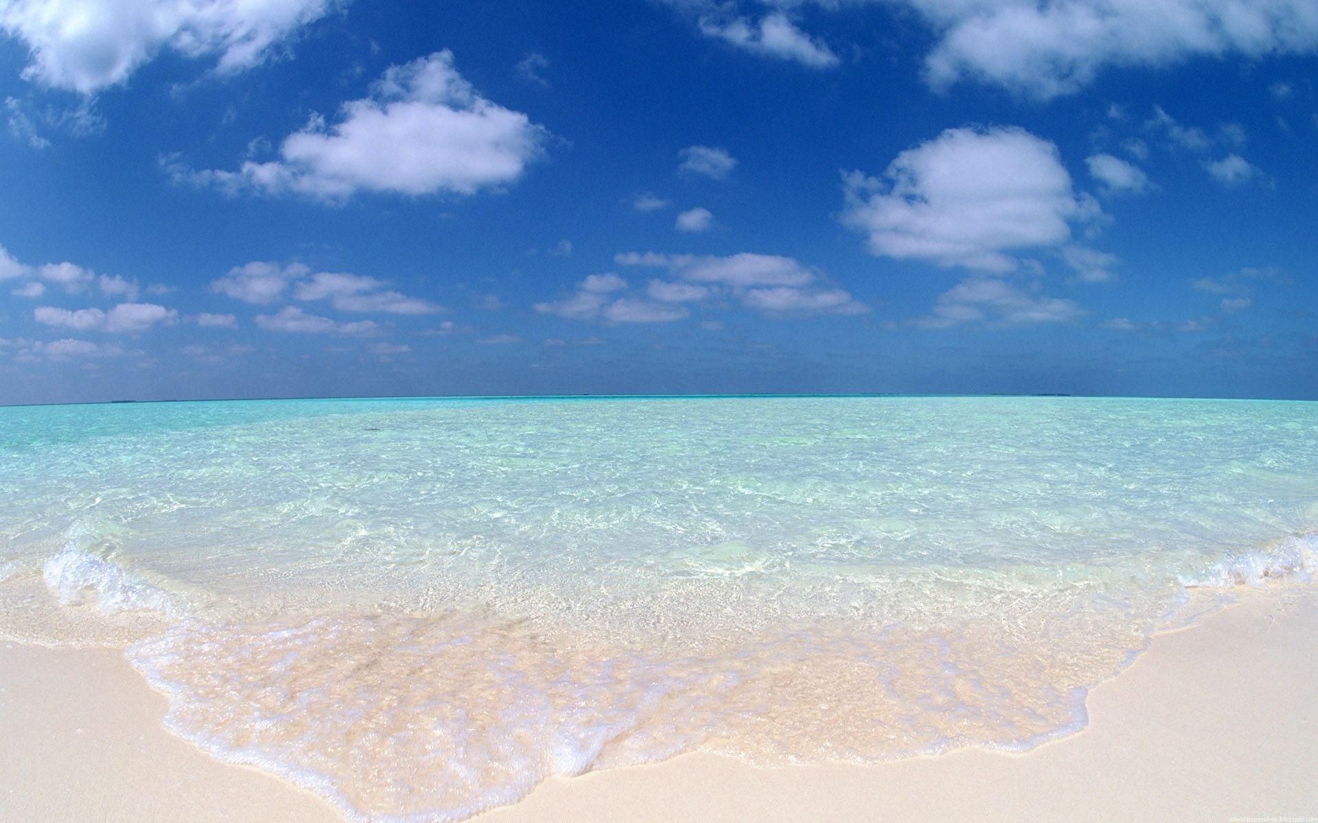 Playas de aguas transparentes - 1920x1200