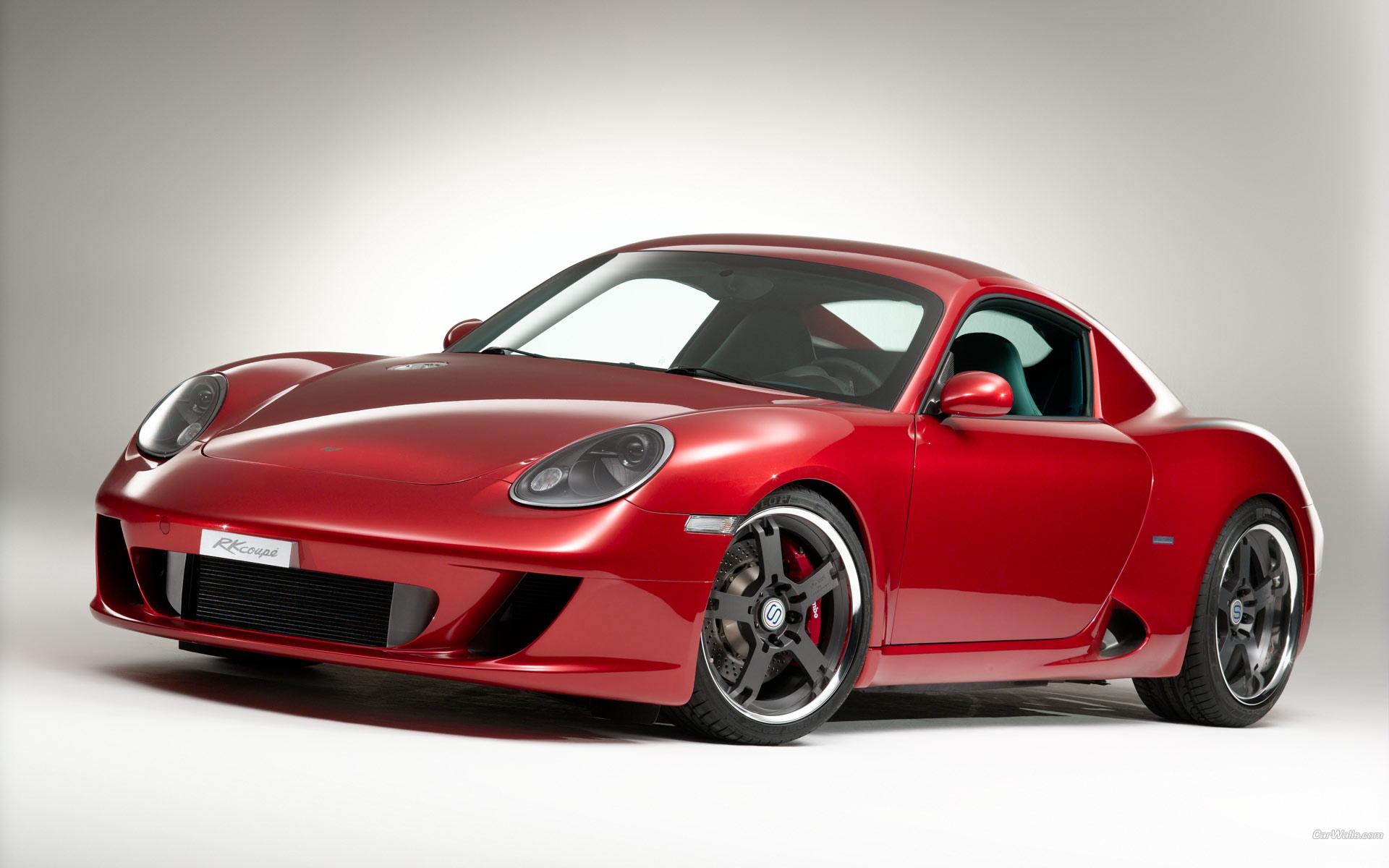 Porsche Cayman rojo - 1920x1200