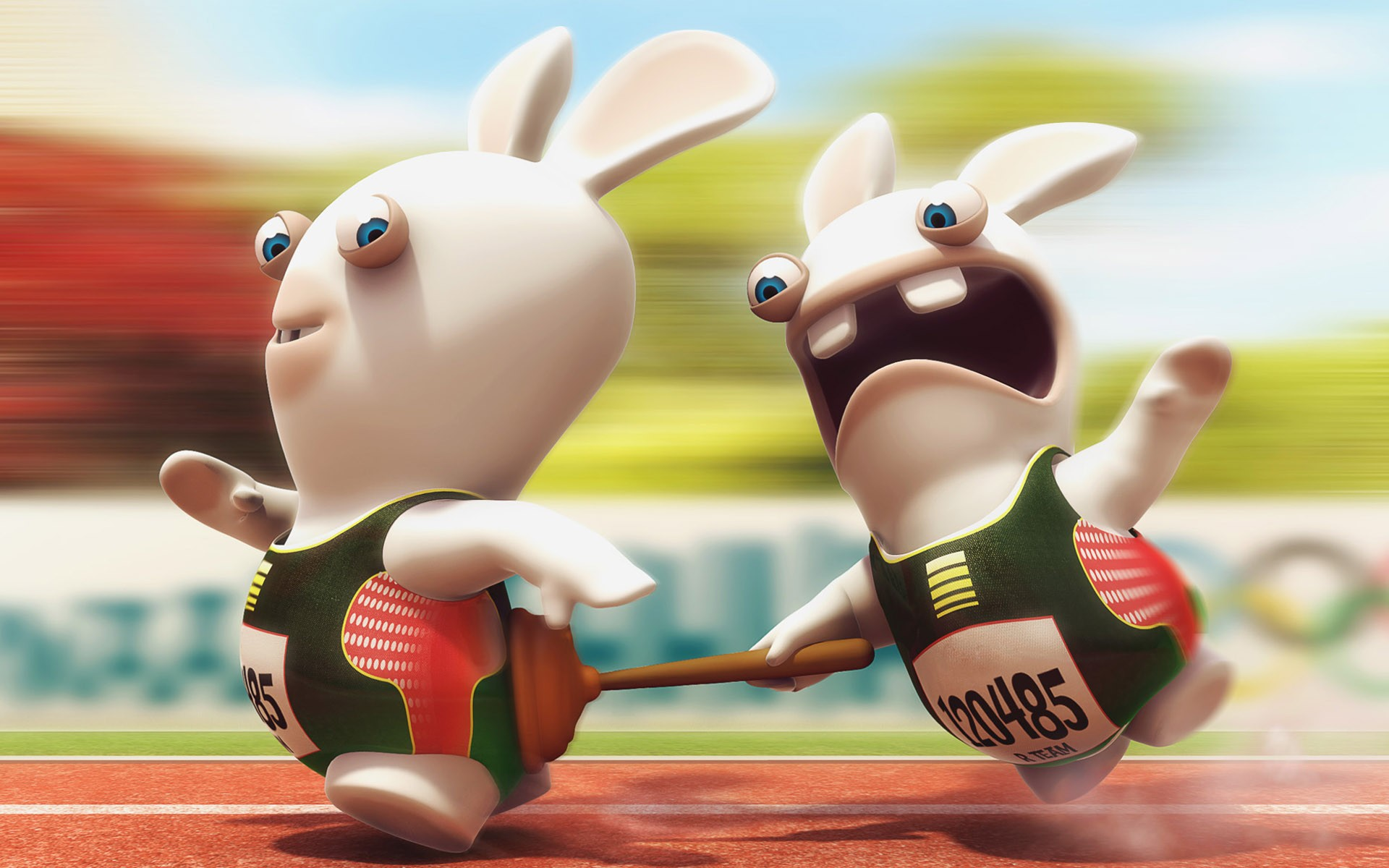Raving Rabbids graciosas - 1920x1200