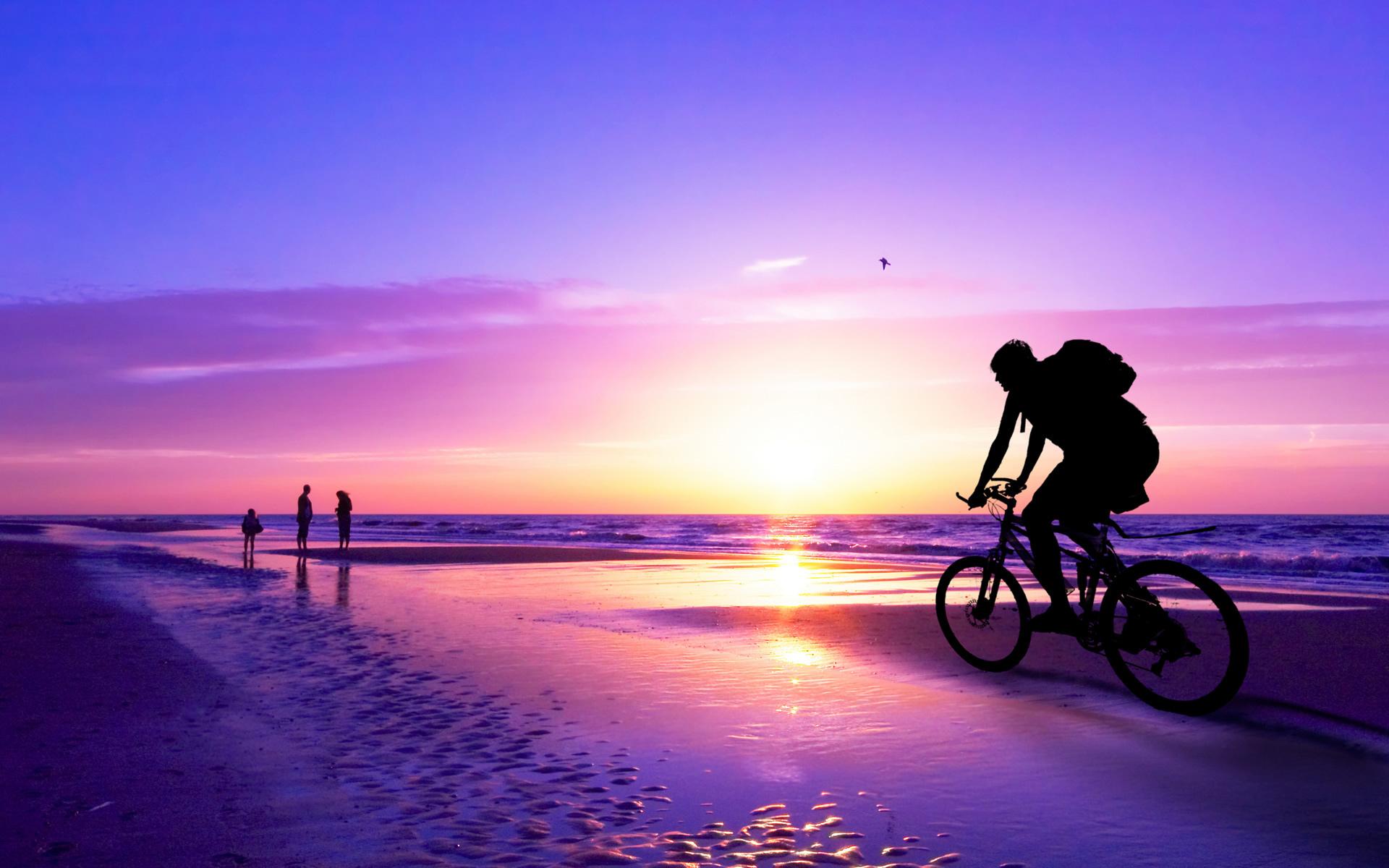 Recorriendo en bicicleta - 1920x1200