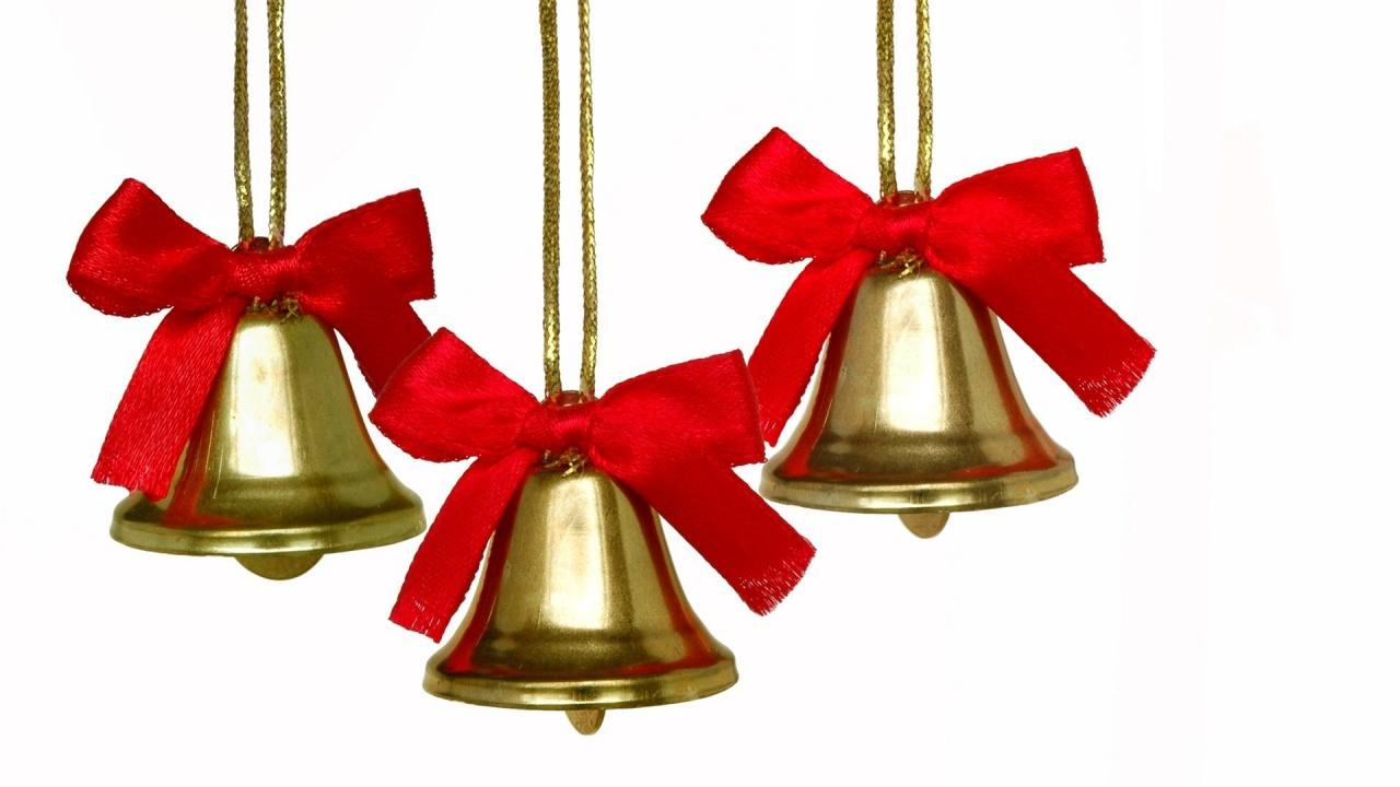 Adornos de campanas para árbol - 1280x720