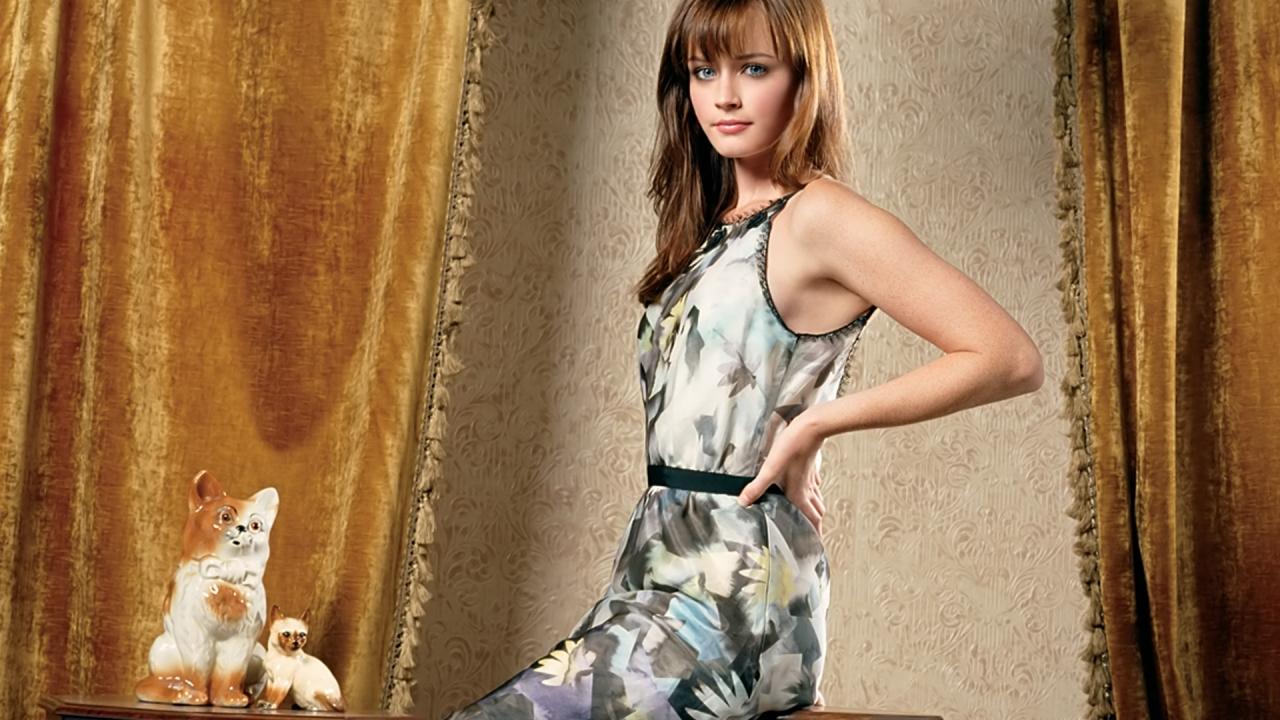Alexis Bledel en vestido - 1280x720