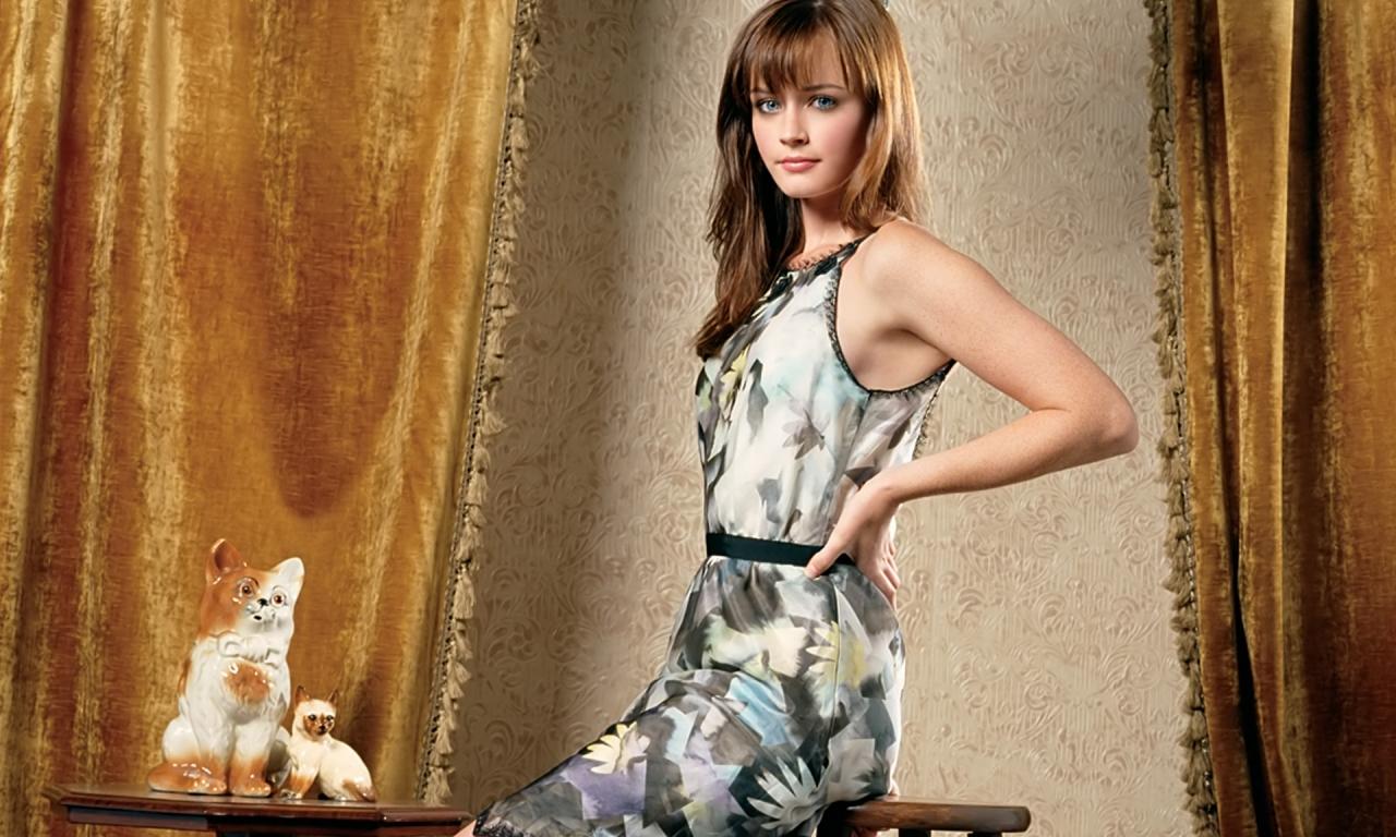 Alexis Bledel en vestido - 1280x768