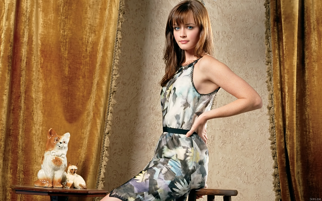Alexis Bledel en vestido - 1280x800