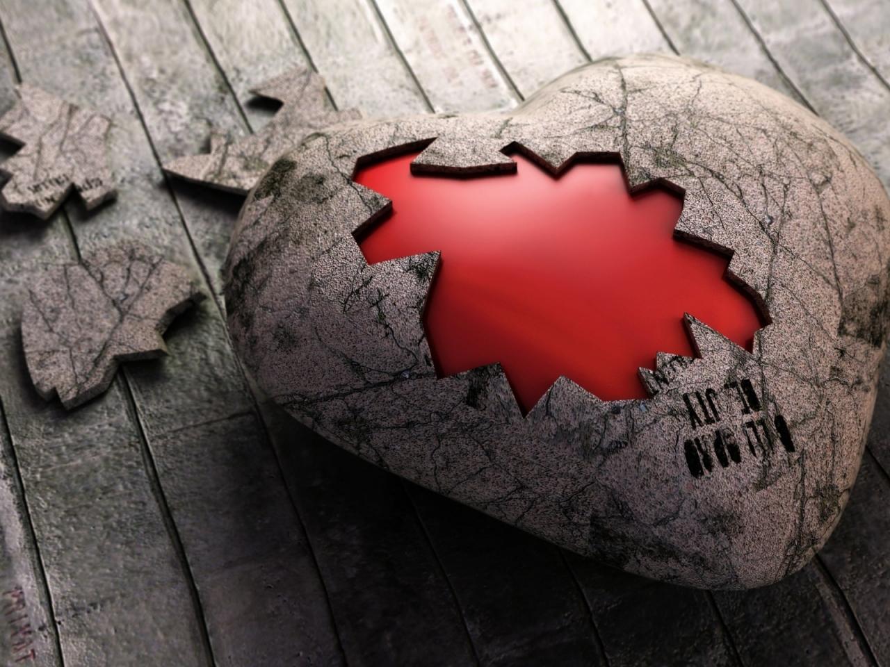 Un rompecabezas de corazón - 1280x960