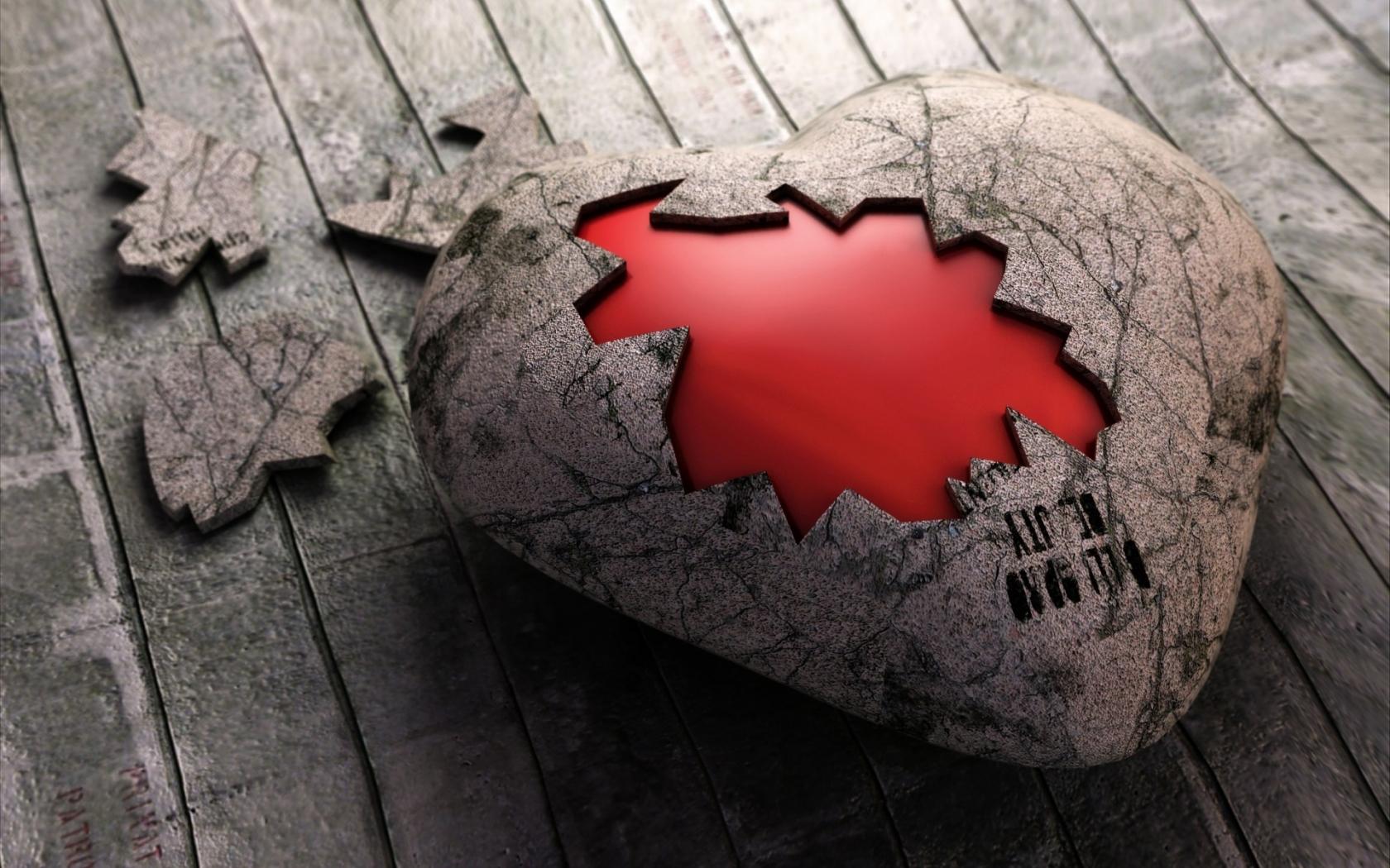 Un rompecabezas de corazón - 1680x1050