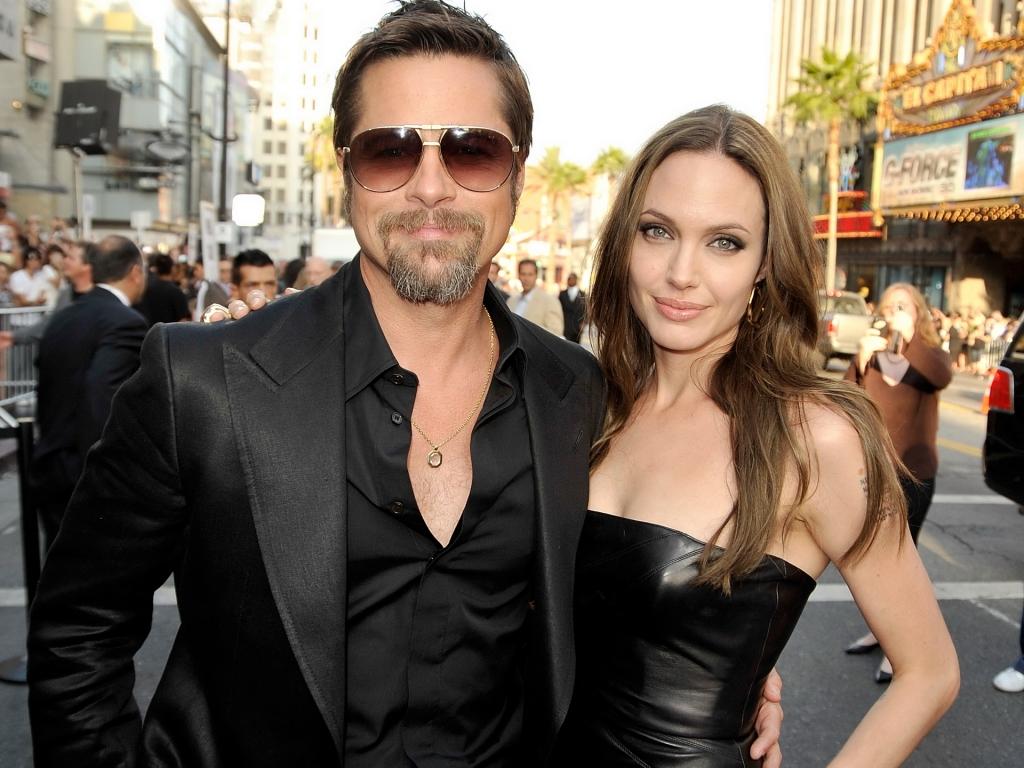 Angelina y Brad Pitt - 1024x768