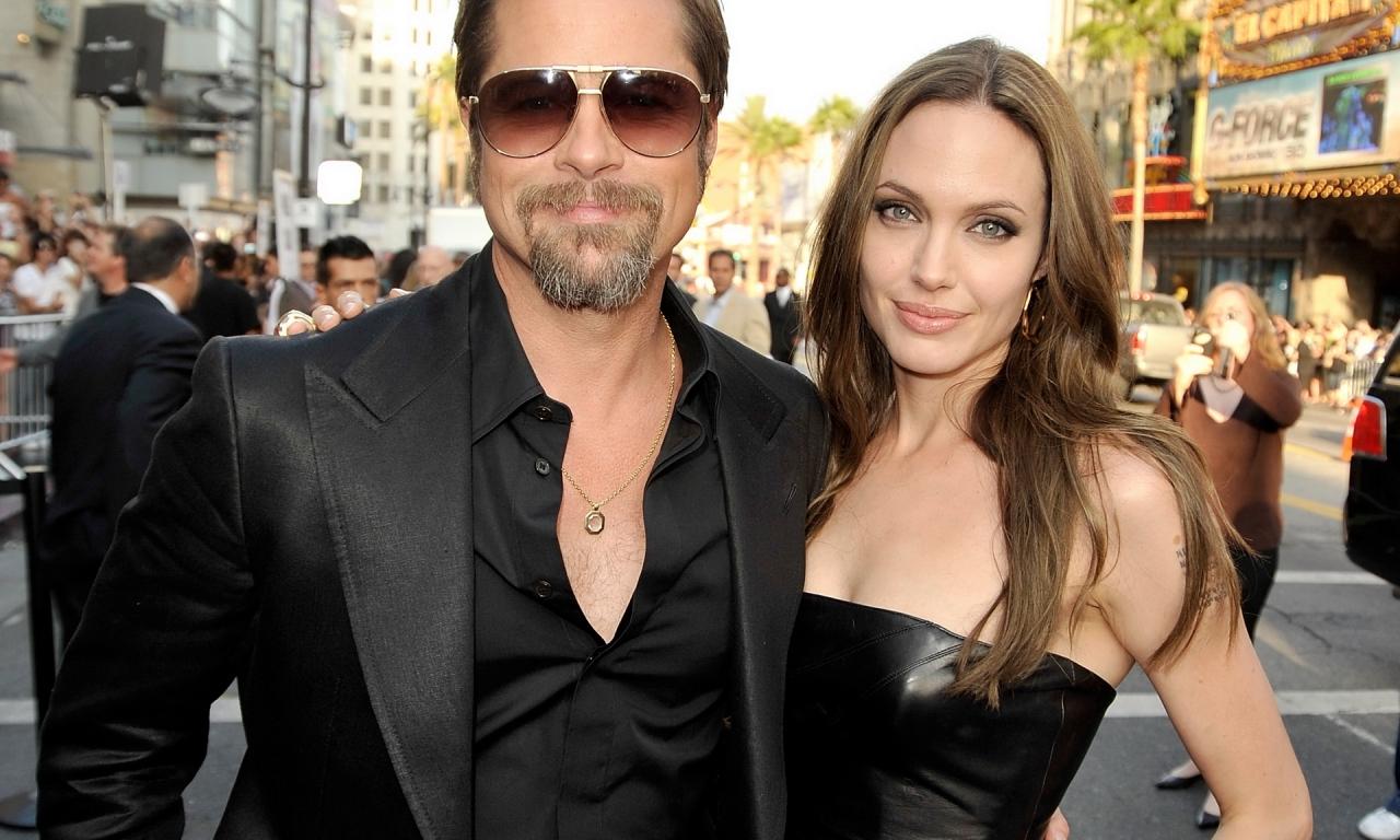 Angelina y Brad Pitt - 1280x768