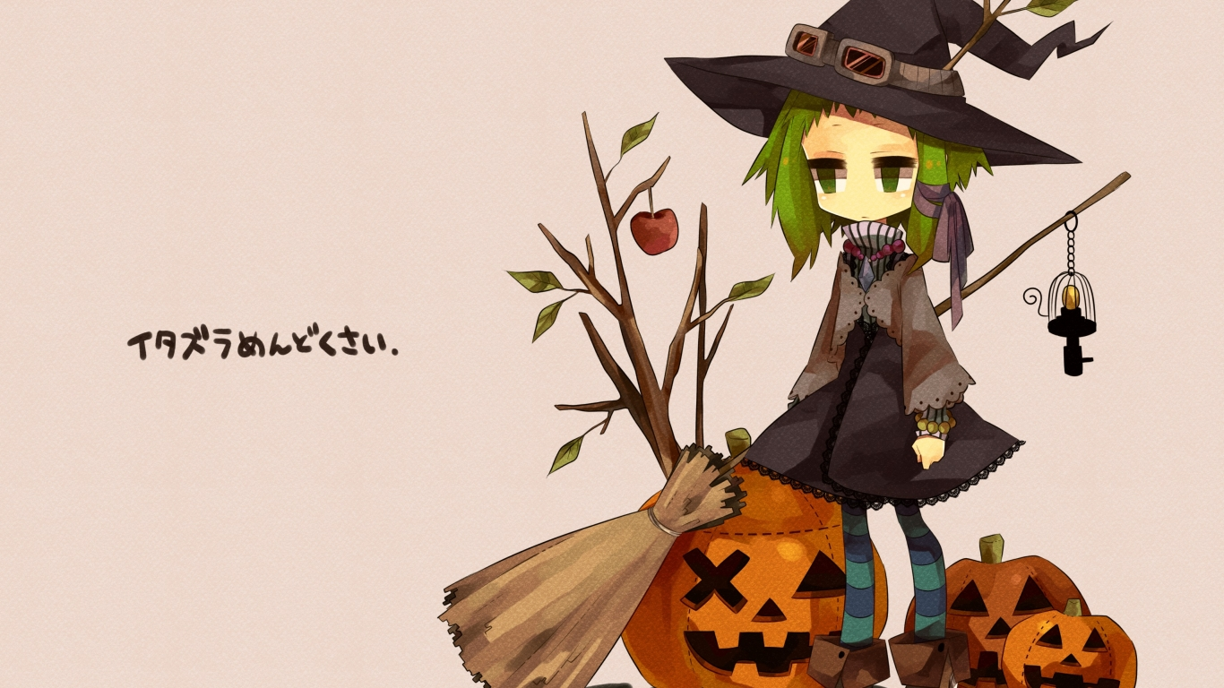 Anime Halloween - 1366x768