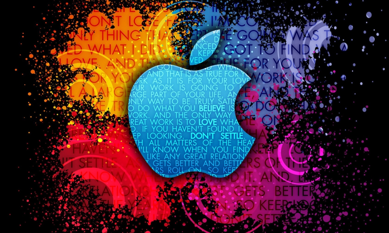 Apple Abstracto - 1280x768