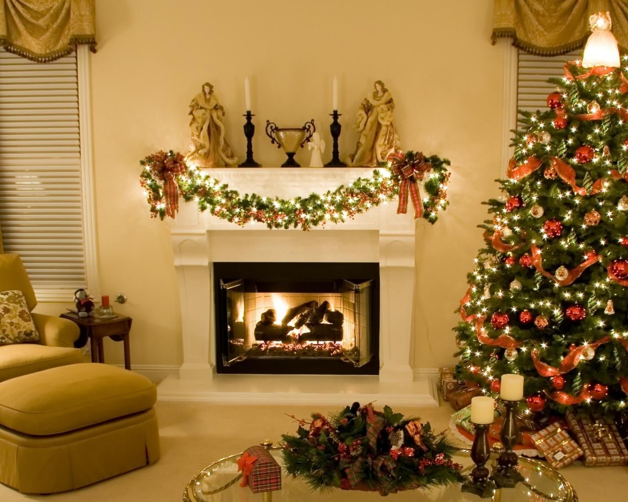 Arbol de navidad en casa hd 1280x1024 imagenes - La casa de la navidad ...