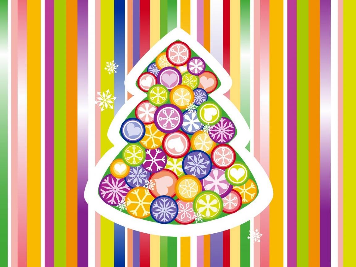 Arbol de navidad multicolor - 1152x864