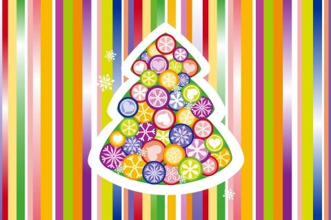 Arbol de navidad multicolor - 480x320
