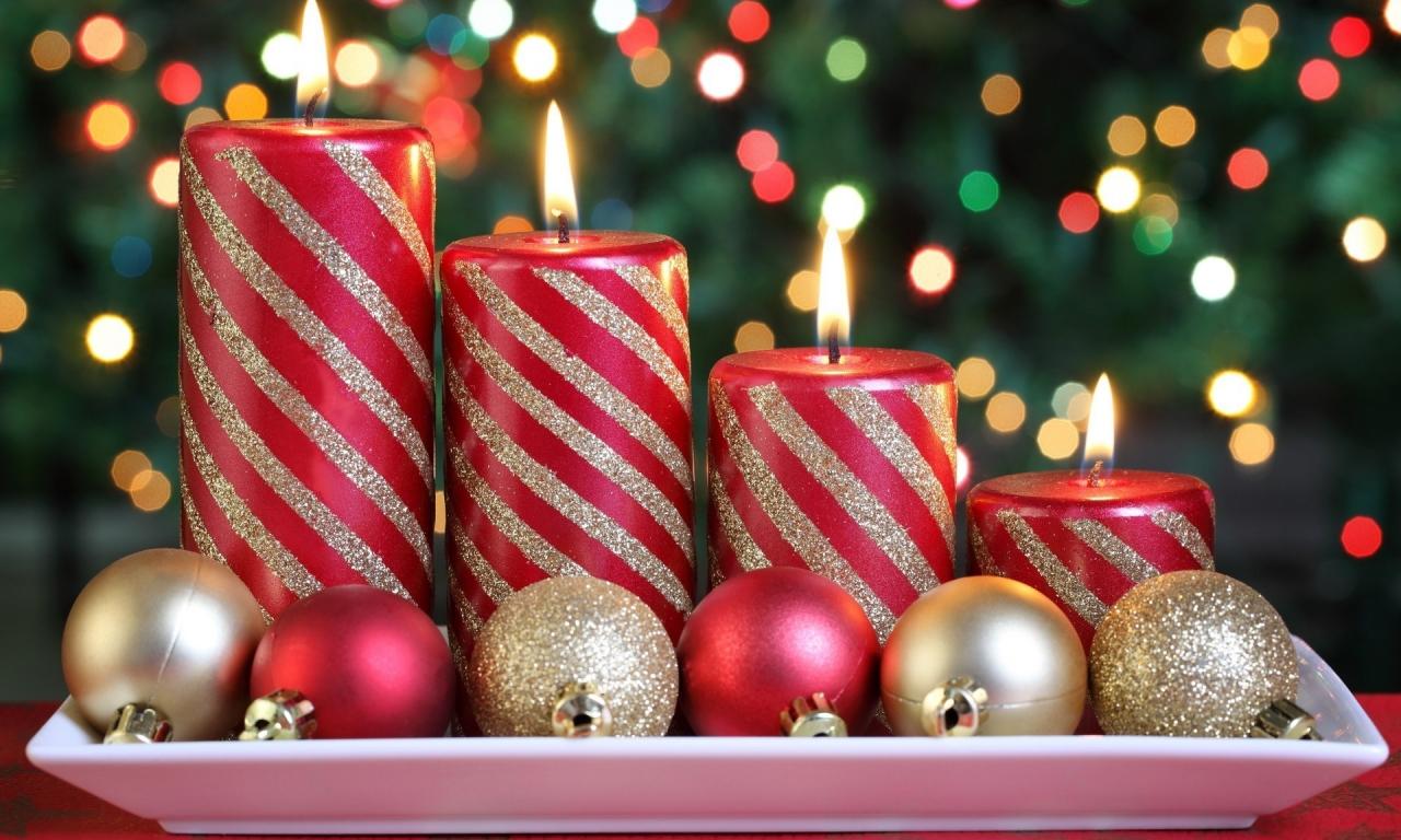 Arreglo de velas x navidad - 1280x768