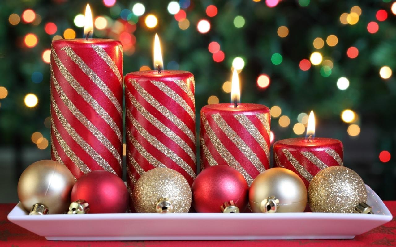 Arreglos De La Navidad Ultra Hd Wallpapers Fondos De: Arreglo De Velas X Navidad Hd 1280x800