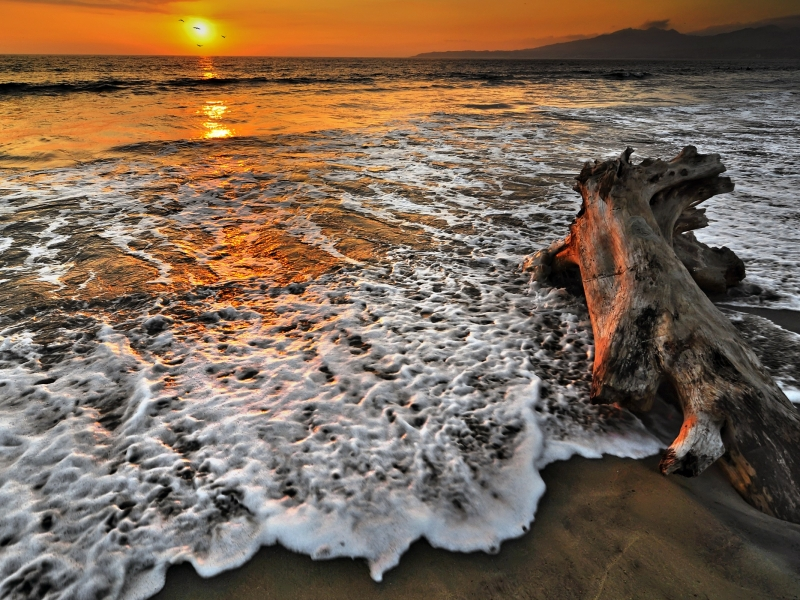 Atardecer en playas - 800x600