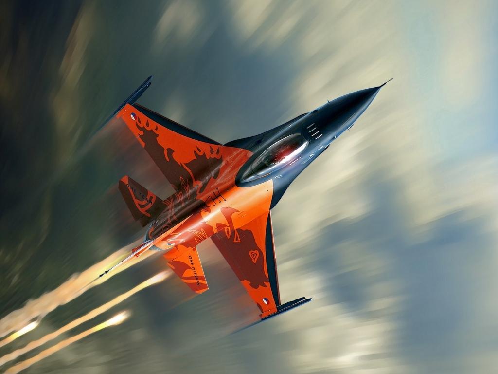 Avión F16 Falcon - 1024x768