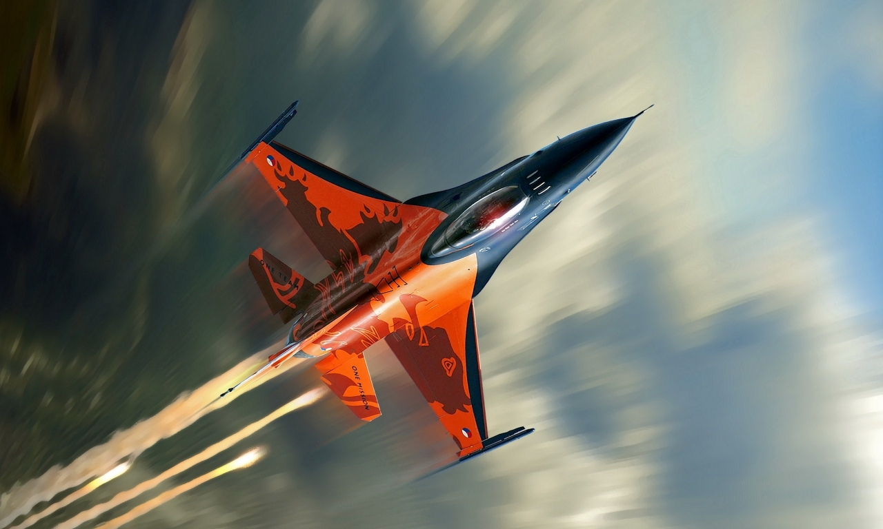 Avión F16 Falcon - 1280x768